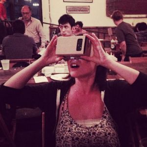 The Intrepid Photog marveling at Google Cardboard